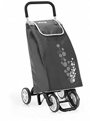 Gimi Twin Grey Shopping Trolley Soft Touch Handle - 56L | 30kg Capacity