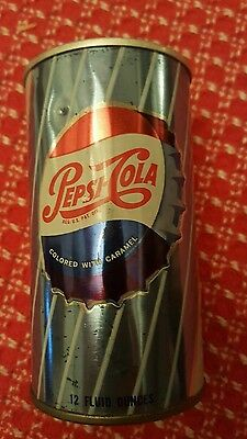 Vintage 1960s PEPSI Soda Can -  Old Style Pull Tab