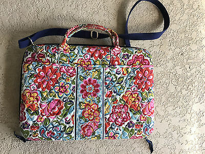Vera Bradley HOPE GARDEN Laptop Portfolio Briefcase Bag Hard Shell Retired