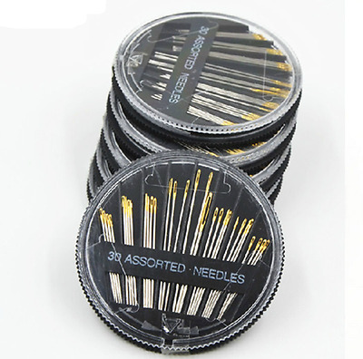 Assorted Size Hand Sewing Needles Case Craft Quilt Embroidery Mending Sew 30 X