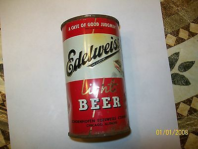 Edelweiss Light Beer steel can 12oz made in Chicago Il.