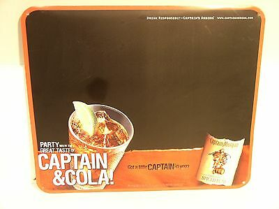 Captain Morgan Rum Tin Sign Blackboard Captain and Cola