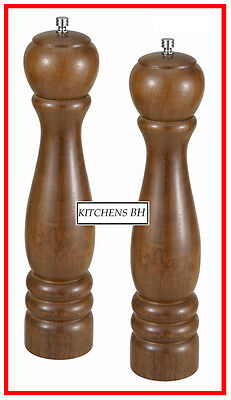 """Set of TWO 12"""" Wood Pepper Mills- Smallwares - Free Shipping!"""