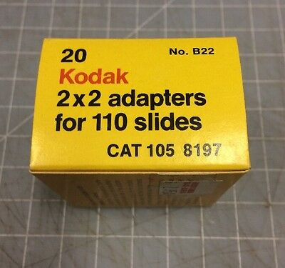 KODAK 2X2 PLASTIC SLIDE ADAPTERS FOR 110 Box of 20