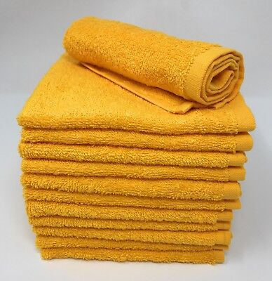 Cotton Washcloths - 12 Pack - Gold Yellow