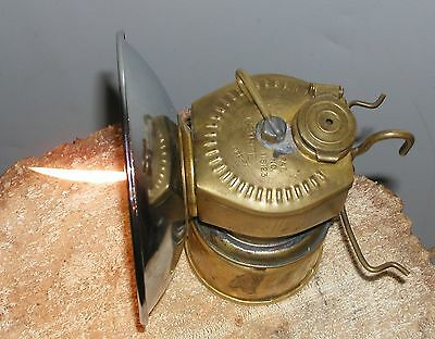 Vintage Brass Justrite Cavers, Gold, Silver, Gemstone, miners Carbide Lamp