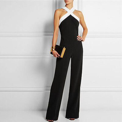 Women Jumpsuit Evening Overall Clubwear Ladies Party Pants Romper Trousers