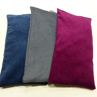 Wheat Bags. Heat packs  x 3  BULK PACK. Grey, Sangria and Peacock Blue Unscented