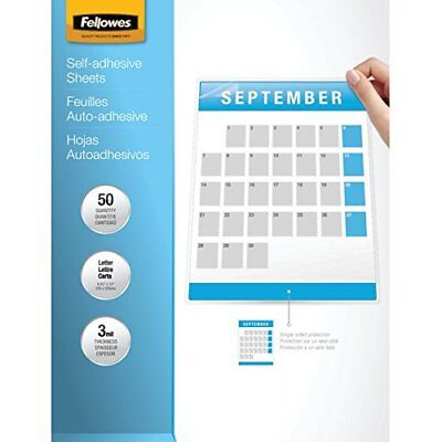 Fellowes Laminating Sheets, Self Adhesive, Letter Size, 3 Mil, 50/Pack