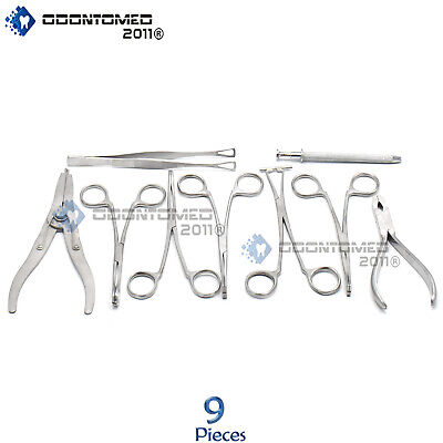 9 Body Piercing Instruments kit Tools Penington Forceps,DS-740