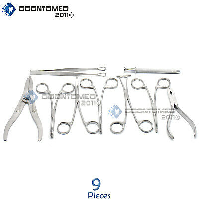 ODM 9 Body Piercing Instruments kit Tools Penington Forceps,DS-740