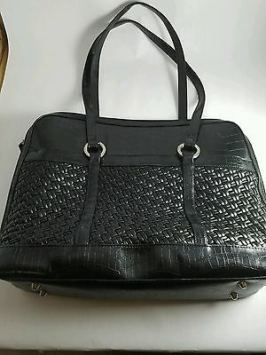 Coldwater Creek Stylish Black Leather Laptop Bag