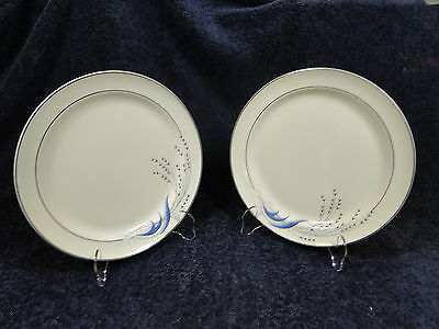 Taylor Smith Taylor Premier Blue Wheat Dinner Plate Vintage 30's TWO
