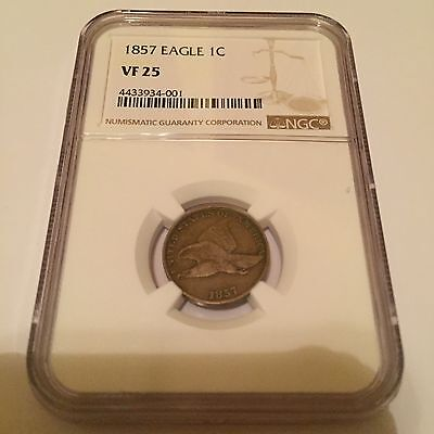 1857 NGC VF-25 Flying Eagle Small Cent - CSTCOINS