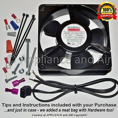Hatco Food Warmer R02.12.001.00 681070 Axial Fan + Wire/Plug 115V - Ships TODAY!