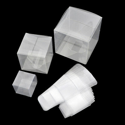10 Pcs Clear PVC Plastic Packaging Box For Gifts Favors Candy Jewelry Pack Set