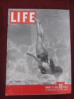 1945 Life Magazine War Ended, Buick, Mobilgas, 7-Up, International Truck & More