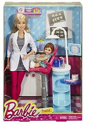 Barbie I Can Be - Careers Dentist Doll Playset Toy with Accessories