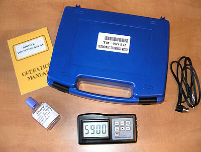 Ultrasonic Thickness Gauge Tester Package  TM-8812 **Brand New with TWO Probes**