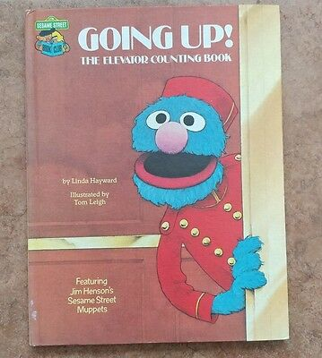 Vintage Sesame Street Book Going Up Elevator Counting Book 1980 Book Club Grover
