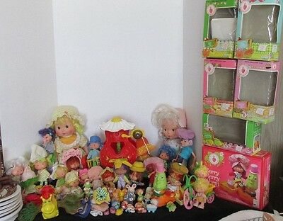 50+ PCS KENNER STRAWBERRY SHORTCAKE 1970s DOLLS ACCESSORIES FIGURINES BOXES