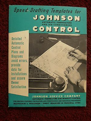 Vintage Johnson Speed Drafting Templates for Auto Temp & Air Conditioning HVAC
