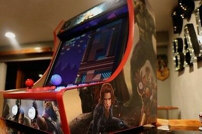MDF Bartop Arcade Cabinet - Do It Yourself Kit with T-Molding Cuts Included!