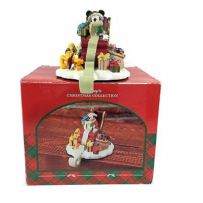Walt Disney Mickey and Pluto Checking Christmas List Holiday Stocking Holder