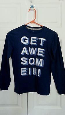 Youth Boys Old Navy Long Sleeve T Shirt Size M (8) Navy Blue