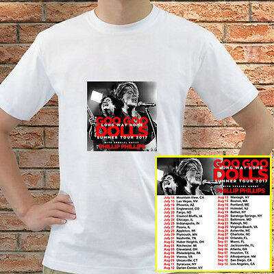 Goo Goo Dolls Long Way Home tour concert 2017 white t-shirt