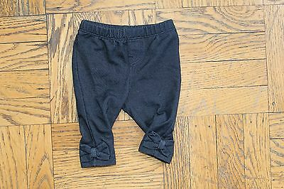 Baby Gap Girl Denim Leggings Pant Jeggings Blue Bow 0-3 months