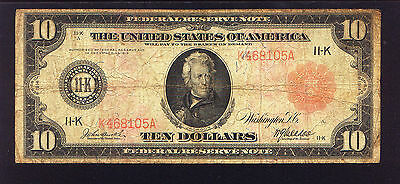 VERY Rare ( 15 known ) Red Seal 1914 $10 DALLAS Fr # 902b