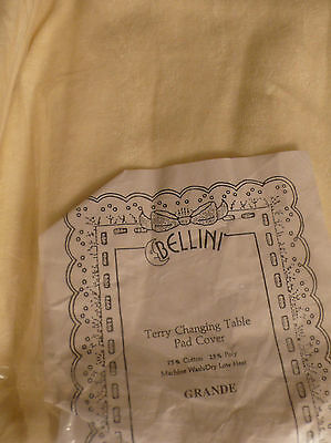 Bellini Terry changing Pad Cover, 75% cotton, 25% poly. NIP. Yellow.