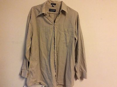 Stafford men's shirt 17 34/35 dressy casual button up relaxed fit
