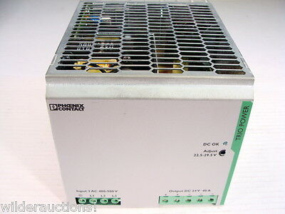 Phoenix Contact TRIO-PS/3AC/24DC/40 Power Supply 24V @ 40 Amps Output GUARANTEED