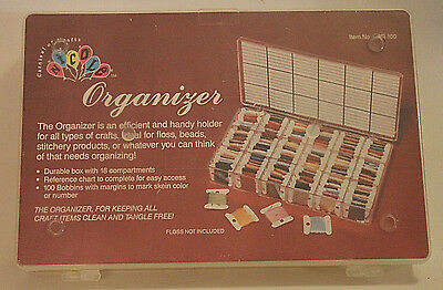 Carnival Of Crafts Floss Organizer 100 Bobbins Never Used No Floss Included