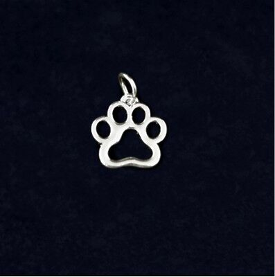 Sterling Silver-Plated Hollow Paw Print Charm Pets - SALE BENEFITS RESCUE