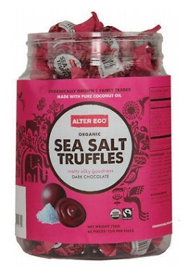 Alter Eco Organic Sea Salt Truffles - Dark Chocolate Tub 60x12g