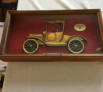 Vintage Glass Encased Seagrams 7 Ford Model T Display Piece Vf !!
