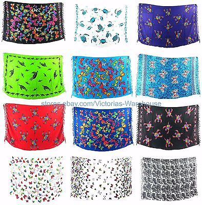 10pcs sarong summer clothing accessories sea life turtle butterfly