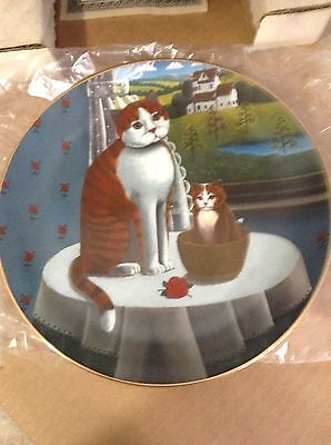 Eyes of the Seasons SPRING Collector Plate by Steven Klein 1981 Orange Cats