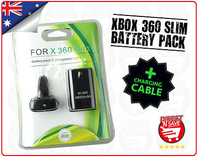 New Battery Pack and Charging Cable for Microsoft X Box 360 Slim