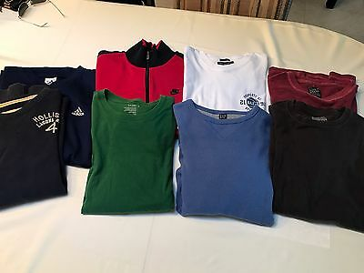 Lot 8 Men's L/S Shirts Hollister Nike Adidas Lucky Gap Abercrombie M L XL