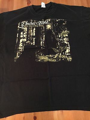 3 Inches In Blood Mens Black Short Sleeve Shirt Size Xl
