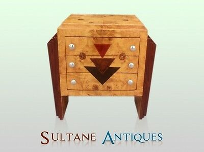 Typical marquetry Art deco style  French commode
