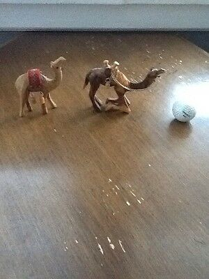 Wooden Hand Crafted Camels