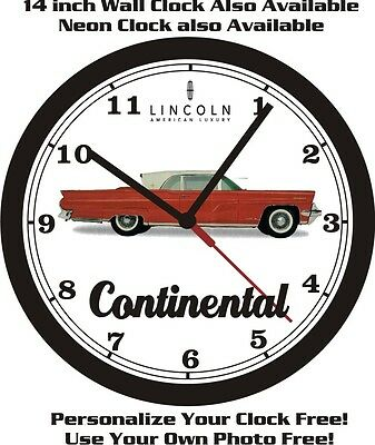1959 Lincoln Continental Wall Clock-Free Usa Ship!