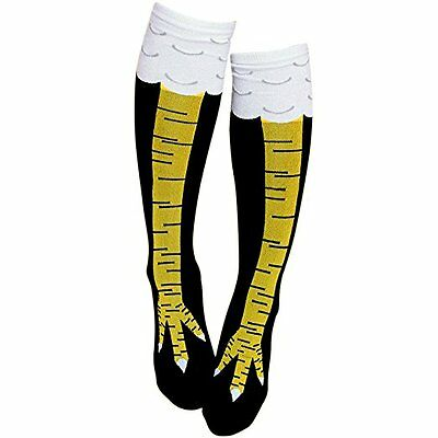 Gmark Socks Chicken Legs Knee-High Fitness Novelty Socks, New 1 pair Unisex