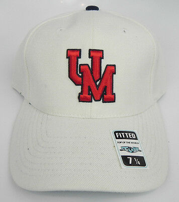 4f6018c9c4ecd ... new zealand mississippi rebels ole miss white ncaa vtg fitted sized cap  hat new deadstock a696e