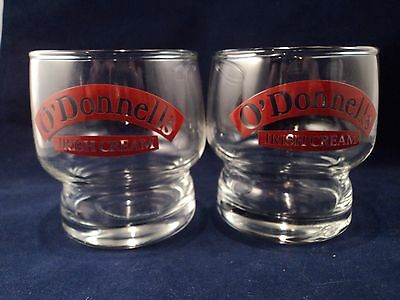 Vintage 2-Piece O'Donnell's Irish Cream Glasses (BZ234)